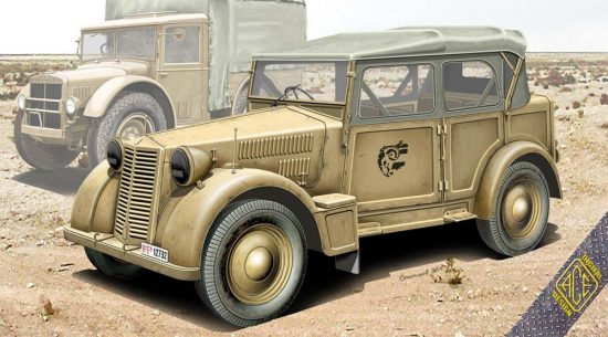 Ace Model 508 CM Coloniale Italien Light Car makett