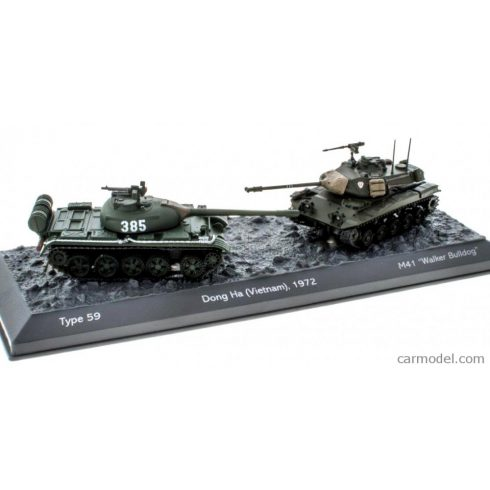 EDICOLA MILITARY TANKS SET - THE BATTLE OF DONG HA VIETNAM 1972 - TYPE 59 VS M41 WALKER BULLDOG