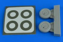Aires Supermarine Spitfire Mk.1 wheels (with covers) & paint masks (Tamiya)