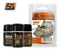AK Weathering Green Vehicles Set