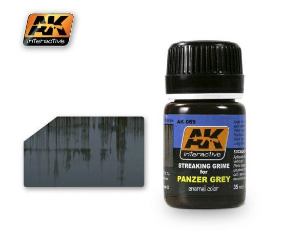 AK Streaking Grime For Panzer Grey