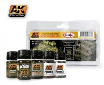 AK Engines And Metal Weathering Set