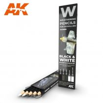AK akvarell ceruza - Black & White SHADING & EFFECTS SET