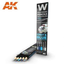 AK akvarell ceruza - GREY & BLUE SHADING & EFFECTS SET