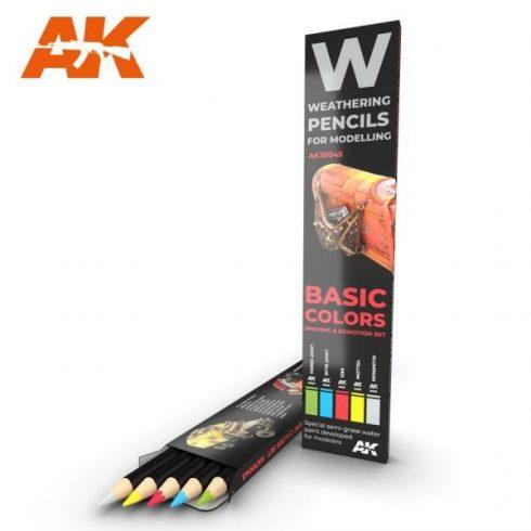 AK akvarell ceruza - BASIC COLORS SHADING & DEMOTION SET