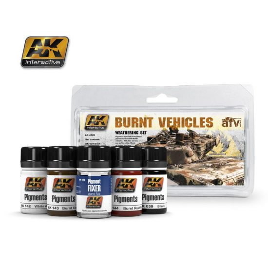 AK Burnt Vehicles Set