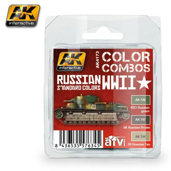 AK RUSSIAN WWII STANDARD COLORS COMBO