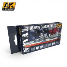 AK US NAVY CAMOUFLAGES ACRYLIC PAINT SET