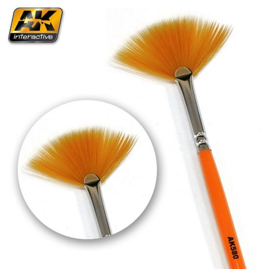 AK FAN SHAPE WEATHERING BRUSH