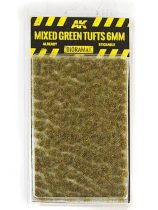AK Mixed green tufts 6mm