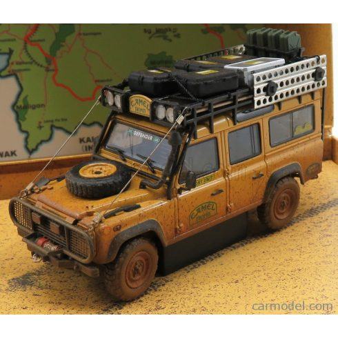 ALMOST-REAL LAND ROVER DEFENDER 110 RALLY CAMEL TROPHY MALAYSIA 1993 DIRTY VERSION