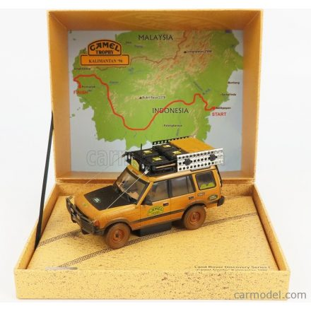 ALMOST-REAL LAND ROVER LAND DISCOVERY MKV N 0 RALLY CAMEL TROPHY KALIMANTA DIRTY VERSION 1996