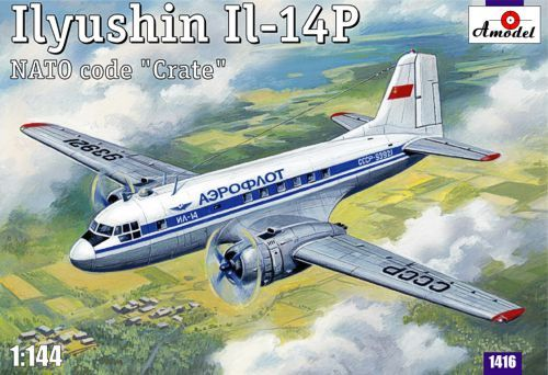Amodel Ilyushin IL-14P Crate Soviet civil aircraft