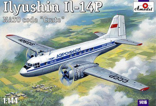 Amodel Ilyushin IL-14P Crate Soviet civil aircraft makett