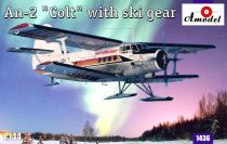Amodel Antonov An-2 'Colt' with ski gear makett