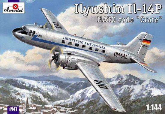 Amodel Ilyushin IL-14P DDR Lufthansa makett