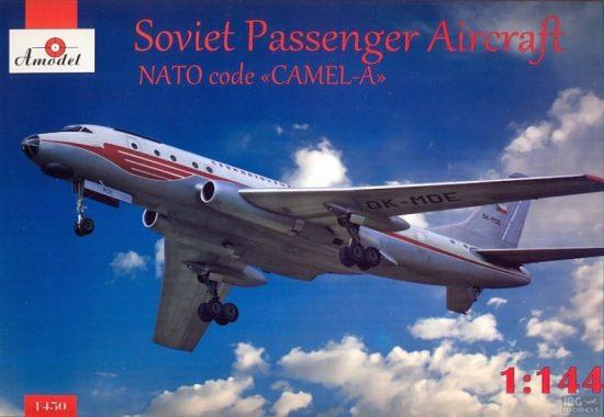 Amodel Tupolev Tu-104 airliner, Czech