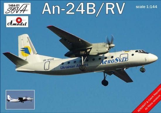 Amodel Antonov An-24B/RV Ukrainian airlines makett