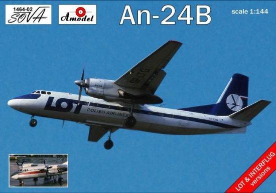 Amodel Antonov An-24B Polish/DDR airlines makett