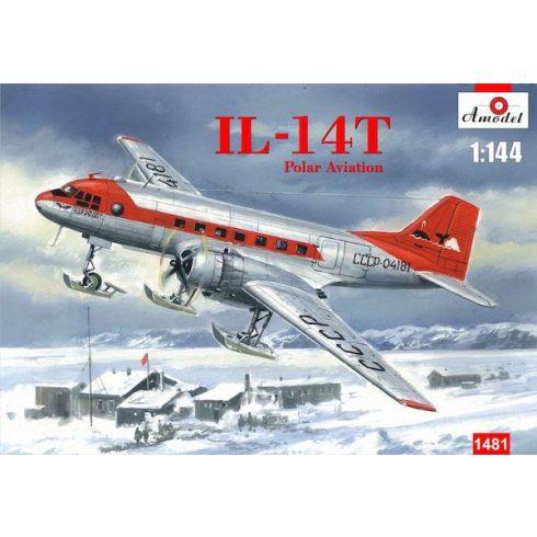 Amodel Ilyushin Il-14T Polar Aviation on skis makett