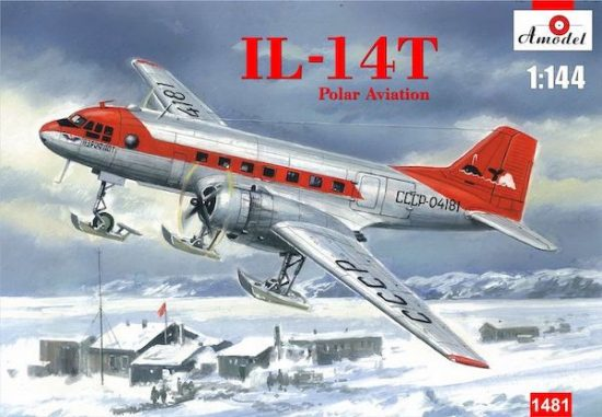 Amodel Ilyushin Il-14T Polar Aviation on skis makett