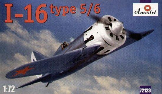 Amodel I-16 type 5/6 Soviet fighter makett