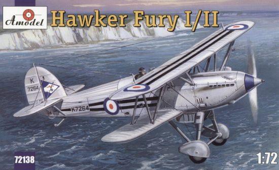 Amodel Hawker Fury I/II USAF fighter makett