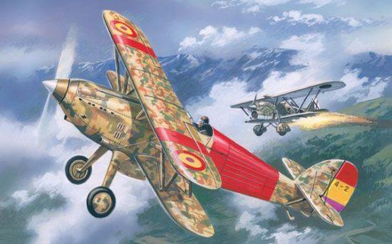 Amodel Hawker Fury Spanish AF fighter