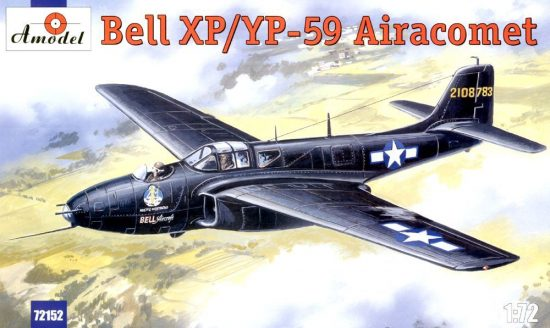 Amodel Bell XP/YP-59 Airacomet USAF fighter makett