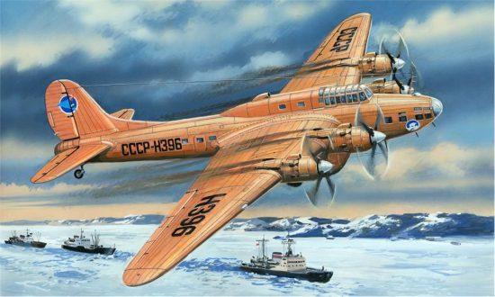 Amodel Pe-8 artic aircraft makett