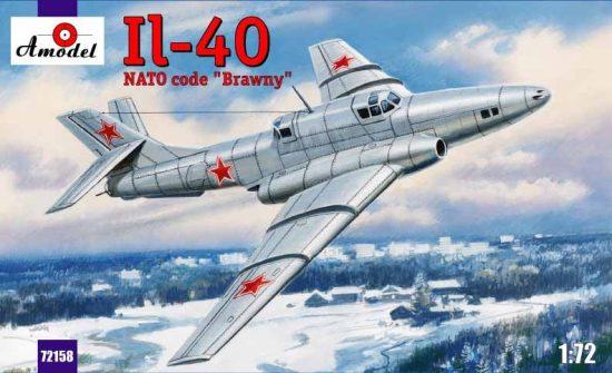 """Amodel Ilyushin IL-40 """"Brawny Soviet aircraft"""" makett"""