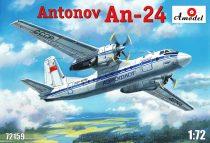 Amodel Antonov An-24 civil aircraft makett