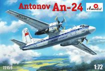Amodel Antonov An-24 civil aircraft makett