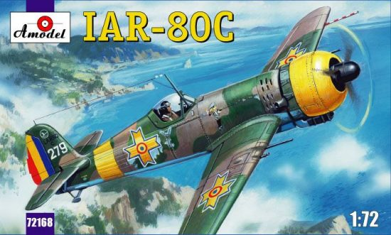 Amodel IAR-80C Romanian fighter makett