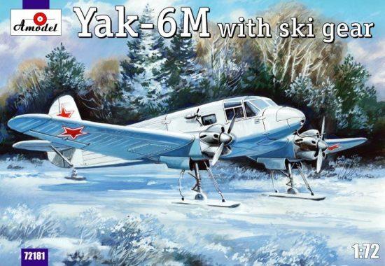 Amodel Yakovlev Yak-6M with ski gear makett