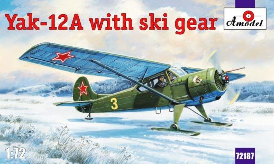 Amodel Yakovlev Yak-12A with ski gear makett