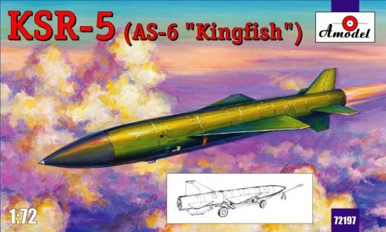 Amodel KSR-5(AS-6 'Kingfish') long-range makett