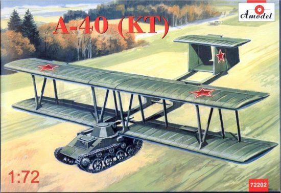Amodel Antonov A-40 (KT)prototype flying tank T makett