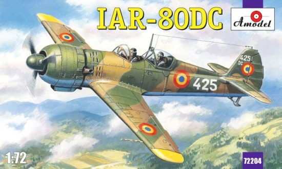 Amodel IAR-80DC Romanian training aircraft makett