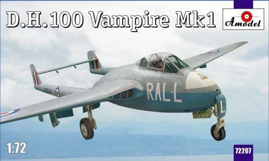 Amodel D.H.100 Vampire Mk1 RAF jet fighter