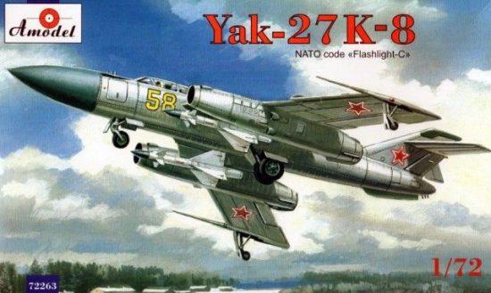 Amodel Yakovlev Yak-27K-8 interceptor makett