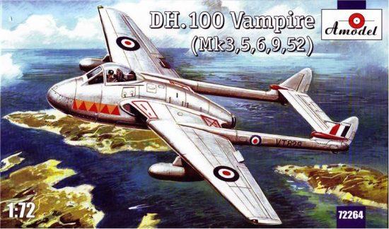 Amodel de Havilland DH.100 Vampire makett