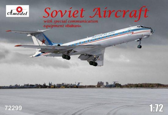 Amodel Tupolev Tu-134AK with eqipment Balkani makett