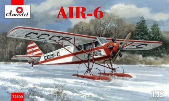 Amodel AIR-6 Soviet monoplane on skis makett