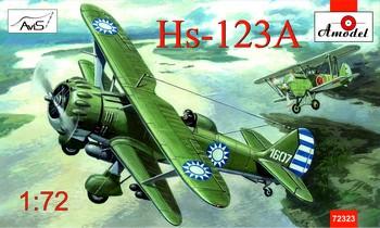 Amodel Henschel Hs-123A Chinese dive bomber makett