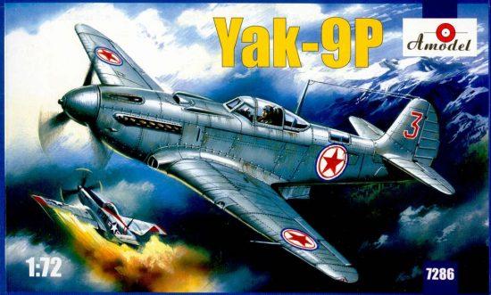 Amodel Yakovlev Yak-9P Soviet fighter