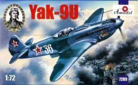 Amodel Yakovlev Yak-9U Soviet fighter
