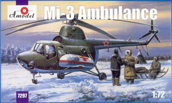 Amodel Mil Mi-3 ambulance makett
