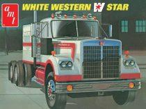 AMT White Western Star Semi Tractor makett
