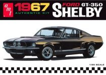 AMT 1967 Ford Mustang Shelby GT-350 molded in black plastic makett